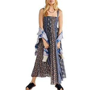 Free People Come together smocked flora midi dress